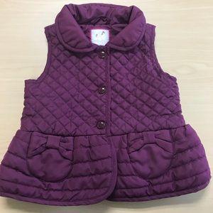 Gymboree plum colored quilted vest 2T